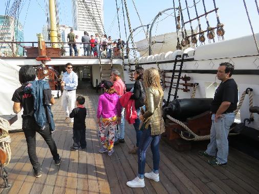 Aumenta afluencia de público durante las vacaciones de invierno en «Museo Corbeta Esmeralda»