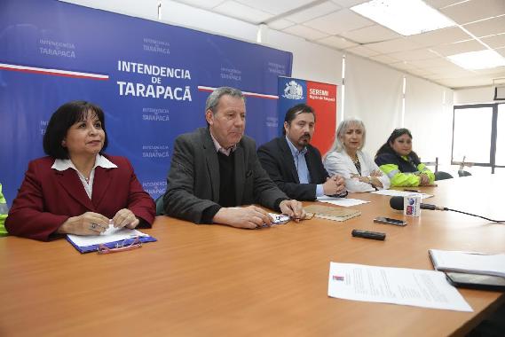 En conferencia de prensa Salud da a conocer funcionamiento durante Fiesta de Tarapacá
