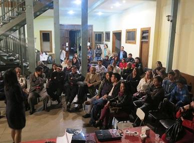 Acto de apoyo a concejala Astudillo tras ser involucrada por Rossi, en solicitud de platas a SQM