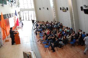 Estudiantes de derecho y trabajo social revisaron el proyecto inocentes