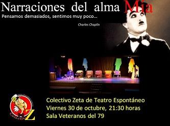 «Narraciones del Alma», presenta el Colectivo Zeta de Teatro Espontáneo