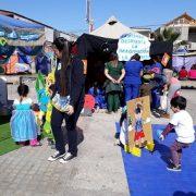 Parvulitos  junto a sus familias y comunidad participaron en actividad «Aquí se lee con Violeta»