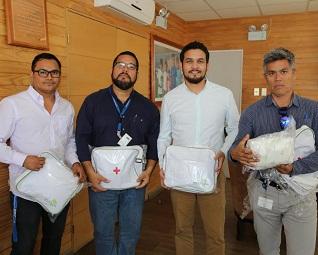 Kits de seguridad y botiquines entregaron a funcionarios líderes de piso de la Municipalidad de Iquique