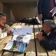 Jorge Soria se reúne con Guillier en Santiago e inicia recta final para inscribir su candidatura a Senador