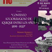 Especialista presenta conferencia sobre el contexto socioreligioso de Iquique y la presencia de la Orden Franciscana en la ciudad