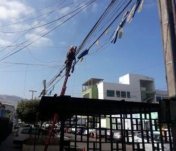 Más de 34.500 metros del cableado eléctrico en desuso y 1.380 kilos se han retirado en Iquique