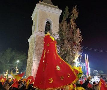 En medio de peleas entre Cargadores y Portadores y con el ingreso de Carabineros a la Iglesia, se realiza misa de víspera de San Lorenzo