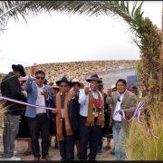 Comunidad Aymara de Ancuaque, compuesta por 148 socios, inaugura sistema de conducción de aguas
