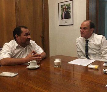 Alcalde Ferreira Planteó al Ministro de Vivienda el grave problema de socavones que afecta a comuna de Alto Hospicio
