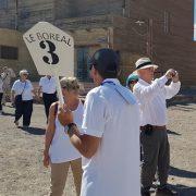 Masivo recorrido por Salitrera Humberstone, realizan turistas del crucero de bandera francesa «Le Boreal»