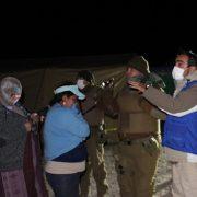 Casi 800 bolivianos se encuentran en la Frontera de Colchane. La ONU entregó carpas y abrigo a los ocupantes más necesitados del asentamiento precario