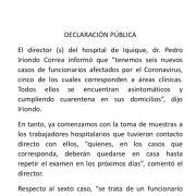 Confirman 6  funcionarios con covid positivo en Hospital de Iquique. Cinco de ellos cumplían funciones clínicas